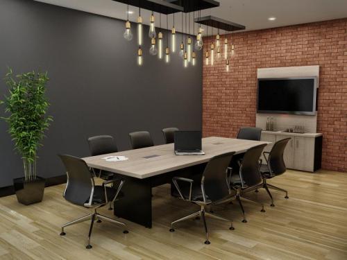 Mesa de Reunião retangular linha Prima 40