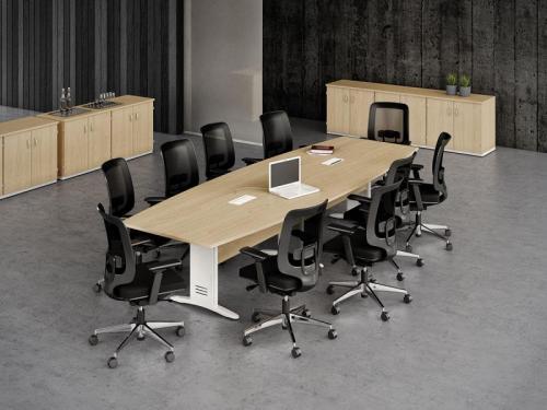 Mesa de Reunião semi oval impéria premium